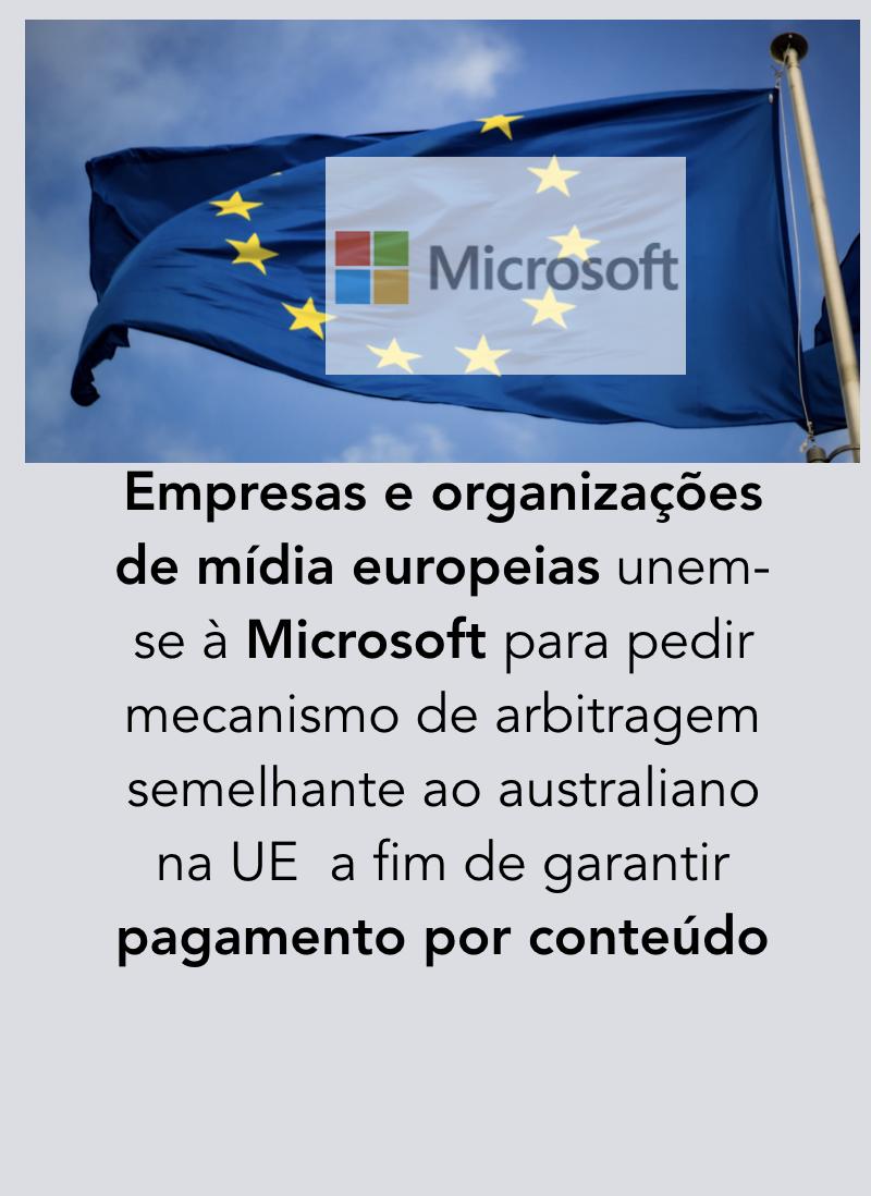 Microsoft União Europeia jornalismo