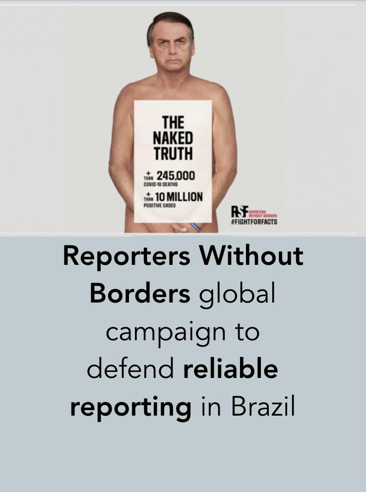 Jair Bolsonaro RSF Repórteres Sem Fronteiras The Naked Truth Verdade Nua