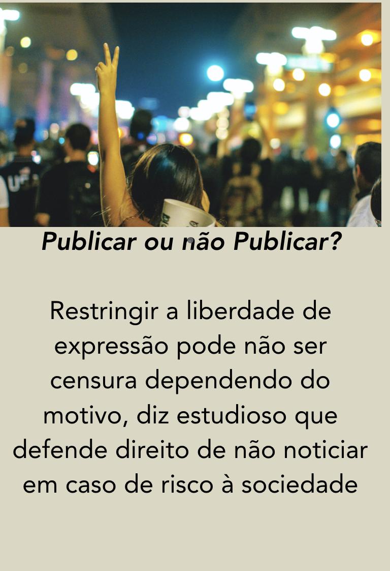 Jornalismo Publicar ou não publicar MediaTalks